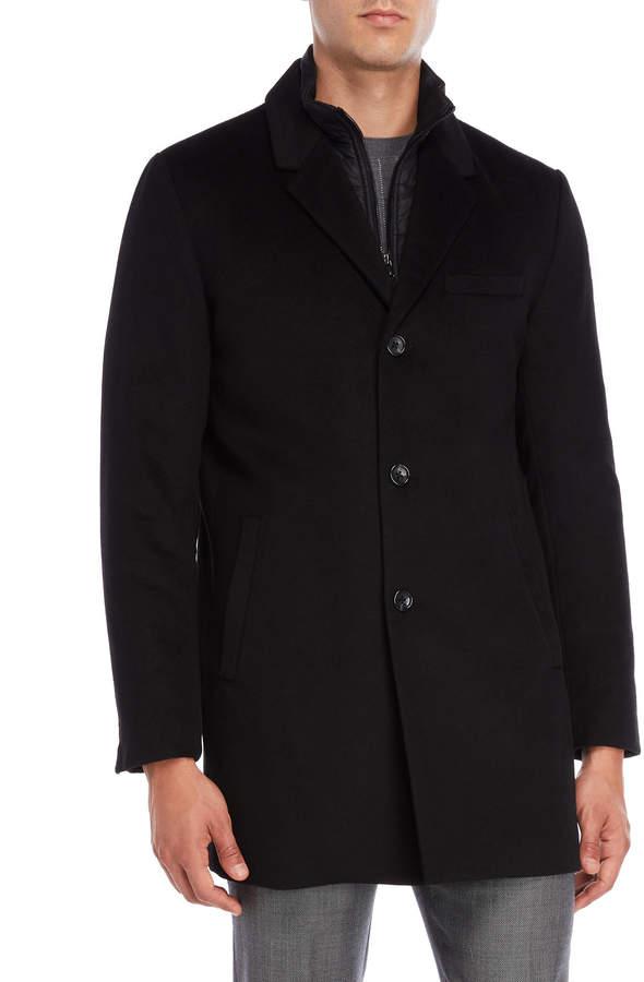 Michael Kors Black Slim Fit Coat