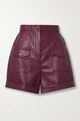 Philosophy di Lorenzo Serafini Faux Leather Shorts - Claret
