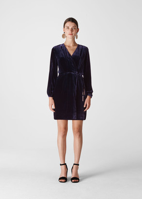 Lavone Silk Mix Velvet Dress