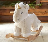 Pottery Barn Kids Unicorn Fur Plush Rocker