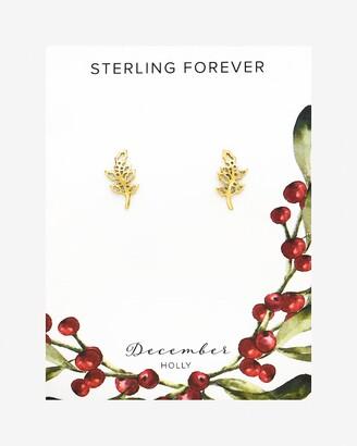 Express Sterling Forever December Birth Flower Stud Earrings