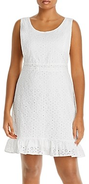 Aqua Curve Eyelet Flounce Hem Dress - 100% Exclusive