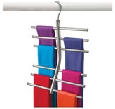Lynk Hanging Tiered Scarf Holder - Closet Hanger - Organizer Rack - Platinum