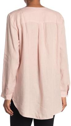 Eileen Fisher Round Neck Linen Shirt