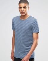 Minimum T-Shirt With Breton Stripe In Navy
