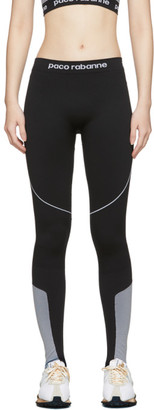 Paco Rabanne Black Bodyline Logo Leggings