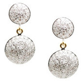 Tresor Collection - 18k Yellow Gold 2 Tier Earrings with Diamond Lente