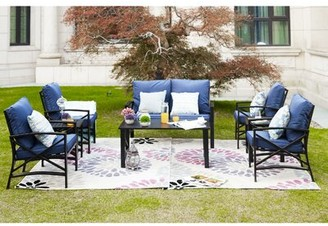 Alcott Hill Richardson 8 Piece Sofa Seating Group with Cushions Cushion Color: Blue