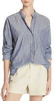 Vince Striped Cotton Pullover Shirt