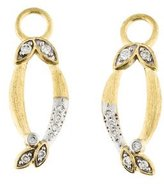 Jude Frances 18K Diamond Delicate Open Marquis Leaf Earring Enhancers