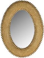 Safavieh 18x23 Oval Texture Mirror, Gold