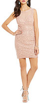 Jodi Kristopher V-Back Lace Sheath Dress