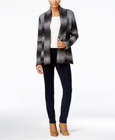 Style&Co. Style & Co. Shawl-Collar Striped Cardigan, Only at Macy's