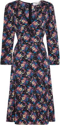 Diane von Furstenberg Vivi Floral-print Stretch-silk Dress
