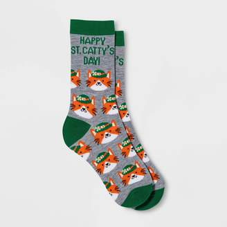 "Nobrand No Brand Women' ""Happy t. Catty' Day"" t. Patrick' Day Crew ock - Heather"