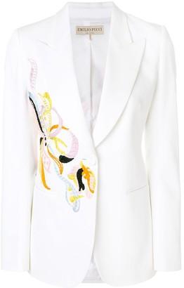 Emilio Pucci Embroidered Tuxedo Blazer