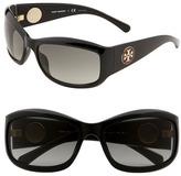 'Pop Out Logo' Wrap Sunglasses Black One Size
