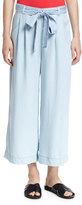 Seafolly Chambray Cropped Wide-Leg Coverup Pants