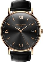 Ambassador Heritage 1863 Gold Case with Leather Strap Men's Watch