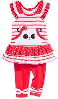 Nannette 2-Pc. Panda Peplum Tunic and Capri Leggings Set, Baby Girls (0-24 months)