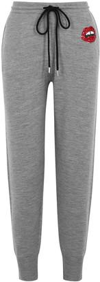 Markus Lupfer Lara Embellished Merino Wool Sweatpants