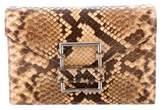 Ralph Lauren Snakeskin Flap Clutch