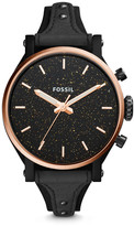 Fossil Original Boyfriend Sport Three-Hand Black Leather Watch