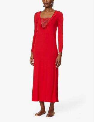 La Perla Layla lace-inset stretch-jersey maxi nightdress