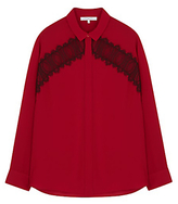 Gerard Darel Lace Cowgirl Shirt, Red