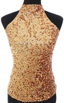 Eyekepper Women's All Over Glitter Sequins Tank Tops Vest