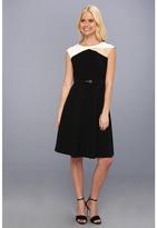 Calvin Klein Color Block Dress CD3X1C57 (Black Multi) - Apparel