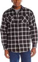 Wrangler Men's Authentics Long Sleeve Quilted Flannel Lined Shirt