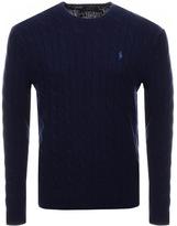 Ralph Lauren Cable Knit Jumper Navy