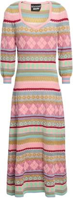 Moschino Metallic Jacquard-knit Midi Dress