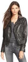 Free People Women's Hooded Faux Leather Moto Jacket