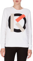 Kenzo Knit Cotton Crewneck Pullover Sweater, White