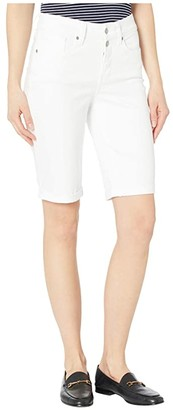 NYDJ Briella Shorts with Mock Fly and Roll Cuff in Optic White (Optic White) Women's Shorts