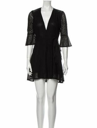 Reformation Lace Pattern Mini Dress Black
