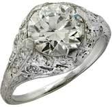Artdeco Platinum & 2.05ct Diamond Engagement Ring Size 5.25