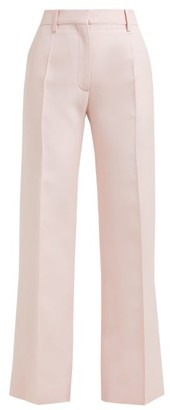 Valentino Tailored Virgin Wool-blend Trousers - Womens - Pink