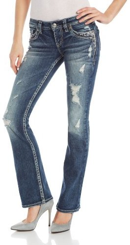 Silver Jeans Juniors Tuesday Low Bootcut Jean