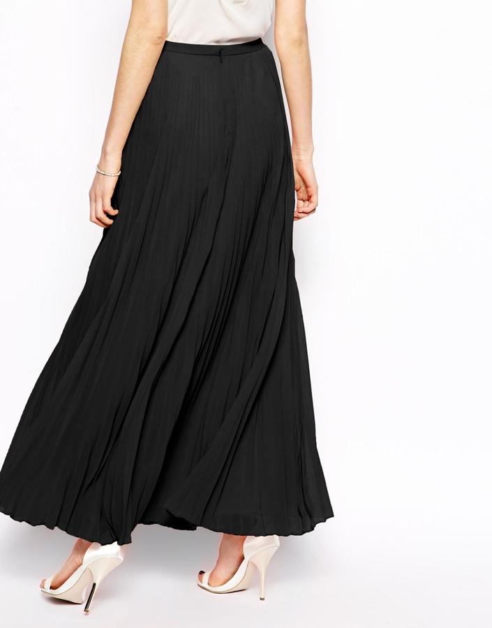 Asos Pleated Maxi Skirt