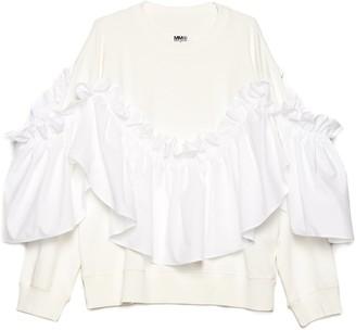 MM6 MAISON MARGIELA Removable Ruffles Sweatshirt