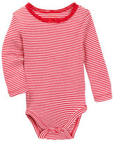 Joe Fresh Ribbed Striped Bodysuit (Baby Girls)