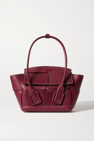 Bottega Veneta Arco Mini Intrecciato Leather Tote - Burgundy