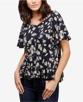 Lucky Brand Printed Peplum T-Shirt