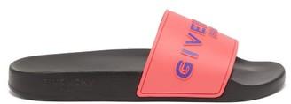 Givenchy Paris Logo-embossed Rubber Slides - Pink