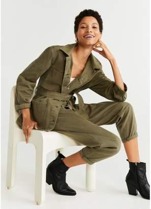 MANGO Denim Army Belted Jacket