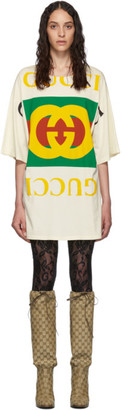 Gucci Off-White Oversized T-Shirt Dress