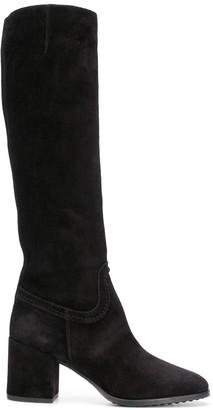 Tod's Block Heel Knee-High Boots